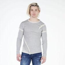 Unifarbene Herren-Kapuzenpullover & -Sweats mit Rundhals aus Baumwolle