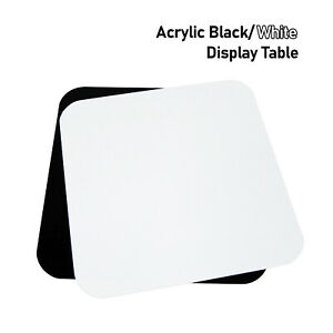 """Photography 12""""X12"""" Acrylic Black/ White Display Table Reflective for Product"""