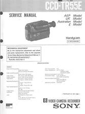 Sony Original Service Manual Pour CCD-TR 55e
