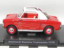 AUTOBIANCHI BIANCHINA TRASFORMABILE 1958 BOXED DIECAST 1.24 SCALE