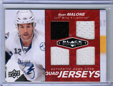 10/11 BLACK DIAMOND RYAN MALONE QJ-MA QUAD JERSEY RUBY /50 TAMPA BAY LIGHTNING