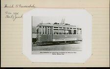 1924 Zurich Streetcar Photo #241 Stadtische Strassenbahn Swiss Switzerland