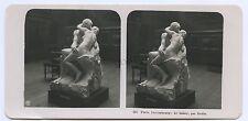 Musée du Luxembourg Paris France Le baiser par Rodin Stereo Vintage ca 1905