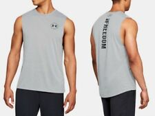 Under Armour * UA Freedom Threadborne Heatgear Tank Grey for Men