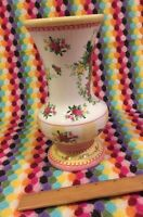 ❤️LAURA ASHLEY Country French Vase Floral Pink Roses Yellow White Design FTD EUC