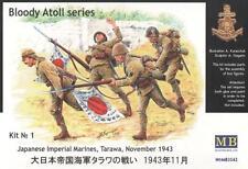 TARAWA 1943, JAPANESE MARINES W/OFFICER #3542 1/35 MASTERBOX