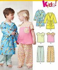 Sew & Make New Look 6234 SEWING PATTERN - Childs Unisex ROBES PAJAMAS sz 1/2-4