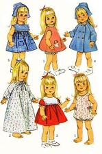 Vintage Doll Clothes PATTERN 6768 for 18 inch Susie Sunshine Baby First Step 60s