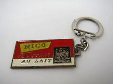 Vintage Foreign Keychain: NICO Chocolat Au Lait Milk Chocolate Nice Quality