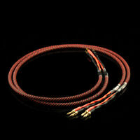 Pair Hi-end Hifi Speaker Cable with Banana Plug 4S8 Audio cable For Amplifier