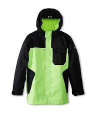 Boys Under Armour XS 7 Cold Gear Infrared Hacker Waterproof Jacket Black Green