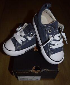 Converse Infant size 8 Chuck Taylor Slip Dark Denim Shoes Blue