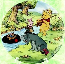 Disney Winnie The Pooh Plate Bradford Fun 100 Acre Woods Going Fishing #4 Eeyore
