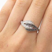 14k Gold Real Black & White Diamond Ring Size 7