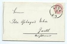 AUSTRIA: Cover 5 kr Linz to Zwettl 1866.