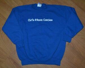 Boys Girls Have Cooties Crew Sweatshirt Youth 7-8 Nice Funny