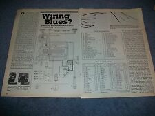 "1985 VW Tech Info Article On Type 1 Electrical ""Wiring Blues?"" Volkswagen Bug"