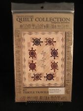 "Turtle Travels Quilt Pattern by The City Stitcher 37""x47"" lightly used"