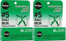 NuAge Labs #5 Kali Mur (Potassium Chloride) 125 Tabs (Paks of 2)