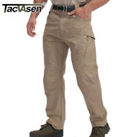 TACVASEN Men Ripstop Cargo Tactical Pants Plaid UTP Safari Workout Urban Trouser