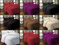 Satin Stripes Quilt Duvet Cover with Pillow Case Bedding Set Single Double King