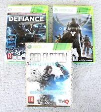 LOTE 3 XBOX 360 Games: DEFIANCE, DESTINY & RED FACTION. PAL, BRAND NEW & SEALED!