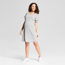 c1282725009a4 ISABEL MATERNITY by Ingrid & Isabel Knit Ruffle Sleeve T-shirt Dress Grey  Medium
