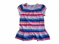 NWT Girl's Gymboree Mix n' Match striped blue pink short sleeve shirt Medium 7 8