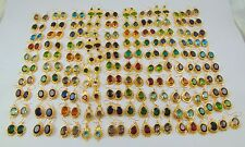 1000 GRAM GOLD PLATED EARRING MIX ALLOY 100 PCS 925 SILVER OVERLAY WHOLESALE LOT