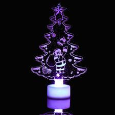 Changing Color Christmas Tree LED Night Light Decorative Wall Lamp Decor
