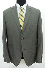 Steven Alan 2 Btn Sport Coat Jacket Gray 100% Cotton Patch Pocket Slim 44 R