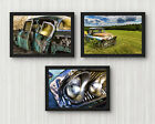 4x6in Set of 3 Abandoned old car photography prints unique photo collage decor