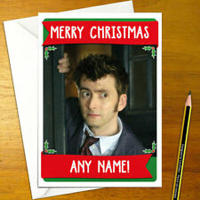 DR WHO Personalised Christmas Card - dr.who doctor tardis tv happy xmas holiday