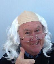 Baldy White Fancy  Dress Wig. Grandad, Baldy Man