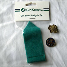 Girl Scout LOT GREEN JUNIOR INSIGNIA TAB +2 Pins, Membership & World Association