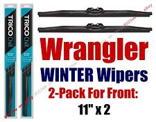 1987-1995 Jeep Wrangler WINTER Wipers 2-pk Snow Ice Cold Winter Blades - 37111x2