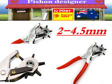 2- 4.5mm Revolving Leather Belt Eyelet Hole Punch Puncher Plier Craft Tool