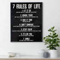 7 Rules Of Life Poster And Print Canvas Painting For Bedroom Classroom Home Art