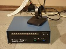 Greiner Vibrograf Gradoscop GD 50 Watchmakers LED Scale watch tester VG + mic