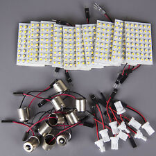 HOTSYSTEM 10x  T10 BA9S 1156 LED 48SMD Panel Interior Dome Map RV Trailer Light