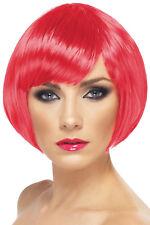 Lady's Glamourous Babe - Short Bob - Fuscia Pink - Fancy Dress Wig - Smiffys