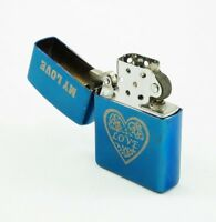 TADDI Oil Kerosene Refillable Flip Top Pocket Windproof Metal Lighter Love Heart