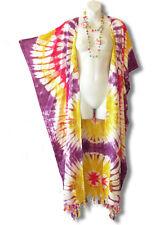 CD231 Plus Size Tie Dye Maxi Cardigan Kaftan Duster Wrap Dress - 2X, 3X, 4X & 5X