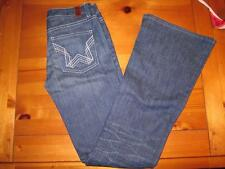 NEW NWOT Womens People's Liberation Embroidered Star Karen Flare Jeans W25 L35