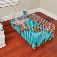Guinea Habitat Plus Guinea Pig Cage by MidWest w Top Panel, 47L x 24W x 14H Inch