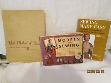 Vintage Sewing Books (3); Modern Home Sewing; Sewing Made Easy & Unit Method Of