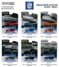 GREENLIGHT GENERAL MOTORS COLLECTION SERIES 1, 6pc SET 1/64 DIECAST MODELS 27870