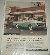 1958 Dodge Pickup  truck ad