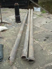 "Three Plastic Pipes about 4"" Diameter 13', 13', 10' ex downspouts"