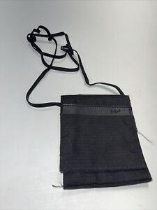 EAGLE CREEK Travel Gear Neck Wallet Purse Money Pouch Black Pockets Card Holder